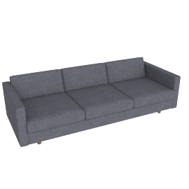 Lispenard Sofa, Pebble Weave Pumice with Walnut Leg
