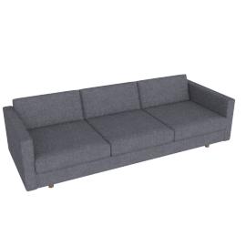 Lispenard Sofa, Pebble Weave Pumice with Walnut Leg