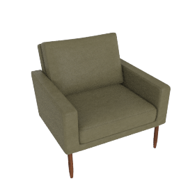 Raleigh Armchair - Olive Leather