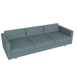 Lispenard Sofa, Ducale Wool - Robins Egg with Walnut Leg