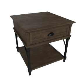 Harmonia End Table with Drawer