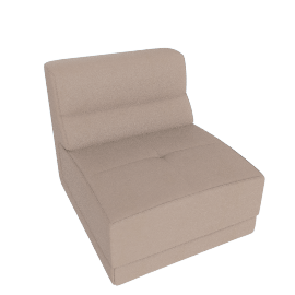 Lynsey 1-Seater Armless Sofa, Taupe