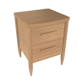 ercol for John Lewis Chiltern Bow 1-drawer Bedside Table