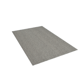 Peas Rug 6.5' x 10', Medium Grey