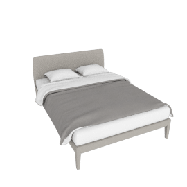 Vella Queen Bed, Warm Grey