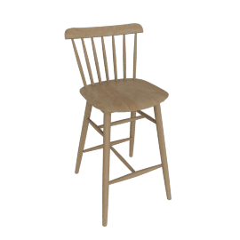 Salt Counter Stool, Natural Beech
