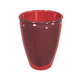Acrylic Tumbler, Red, Small