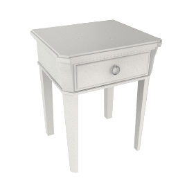 Louisa Bedside Table, Soft White