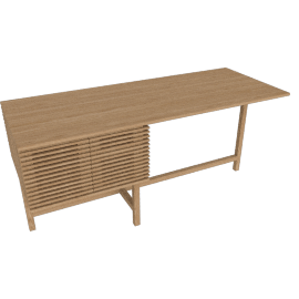 Line Storage Desk, Oak