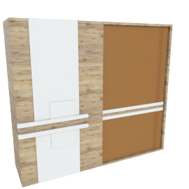 Moreda 2-Door Sliding Wardrobe