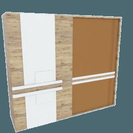 Moreda 2-Door Sliding Wardrobe