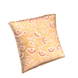 Mabella Cushion, Gold / Pink