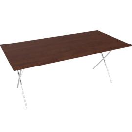 Nelson X-Leg Table, Walnut.Walnut