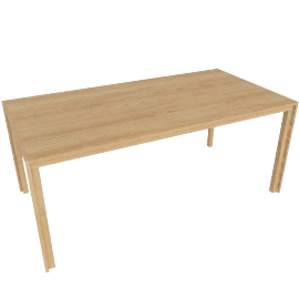 Doubleframe Table 70 x 36, Oak
