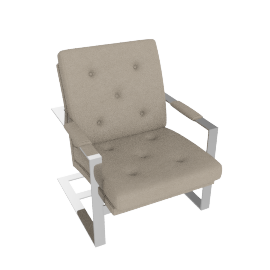 T-Back Lounge Chair - Cobblestone