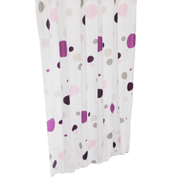 Purple Dots Shower Curtain - 180x180 cms