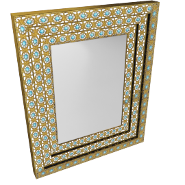 Vanda Wall Mirror - 68x6x83 cms