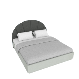 Oyster King Bed - 180x210 cms