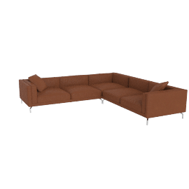Como Corner Sectional in leather, Canyon