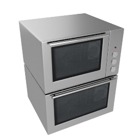 JLDUOS705 Built-Under Double Electric Oven, Stainless Steel