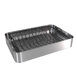 Mermaid Cookware Roasting Dish with Meat Grid, 14""