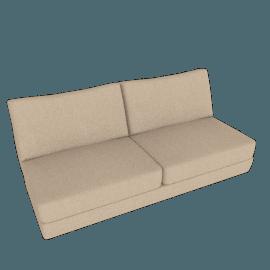 Reid Armless Sofa, Lama Tweed - Oatmeal