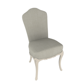 Rose Dressing Table Chair, Ivory