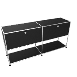 USM Haller Open Storage Credenza, Black