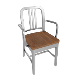 1006 Navy® Armchair w/ Wood Seat