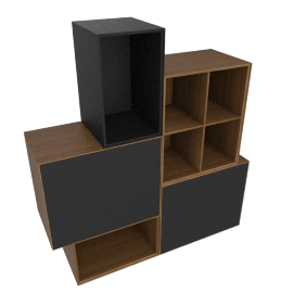 Forma Large Mixed Set, Walnut/Graphite