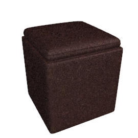 Leather Storage Cube, Chocolate