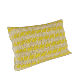 Maharam Pillow in Repeat Classic Houndstooth 11X21, Lemon