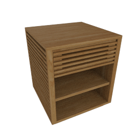 Line Bedside Table, Oak