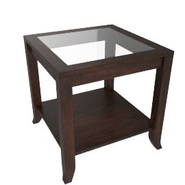Morocco End Table, Brown