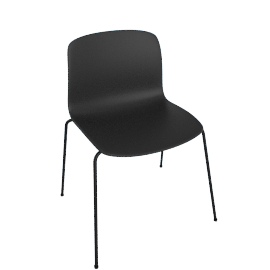 About A Chair 16 Side Chair, Black / Black