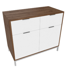 Blend 2-Drawer Buffet, White