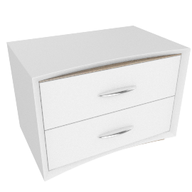Crescent Night Stand -Hg White/L.Oak