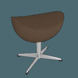 Egg™ Footstool - Tonus Fabric - Army