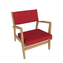 Jens Chair, Oak, Scarlet Lama Tweed