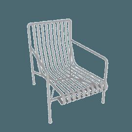 Palissade Lounge Chair, High, Sky Grey