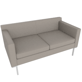 Theatre Two Seater, Vienna Leather, Warm Grey