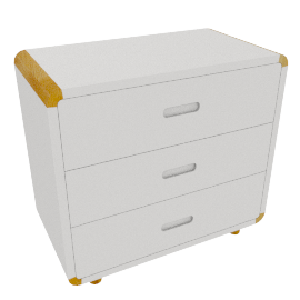 Curve 3 Drawer Chest