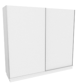 Privilegio 2-Door Wardrobe, High Gloss White/Grey