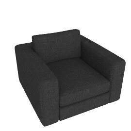 Reid Swivel Armchair in fabric, anthracite