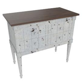 Bourbon Cabinet, Vintage Grey