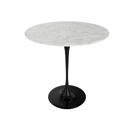 Saarinen Side Table - Coated Marble 2 - Blk.WhiteExtra