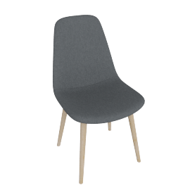Retro Slide Dining Chair, Grey