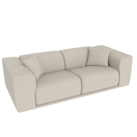 Kelston 95'' Sofa, Leather: Gesso