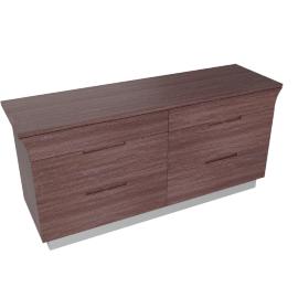 Caroline 6 Drwr Dresser-D.Maple/Silver
