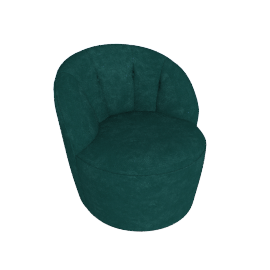 Margot Swivel Chair, Peacock Blue Velvet